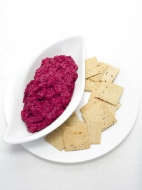 Beetroot and Mint Dip, an easy snack