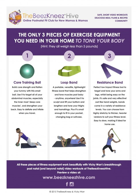 The Best 3 Pieces Of Exercise Equipment You Need To Tone Up After A Baby