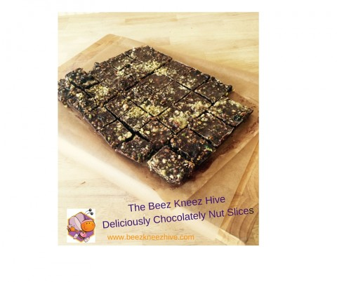 Deliciously Chocolatey Nut Slices..for a post baby nutritious snack