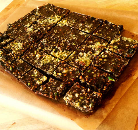 Deliciously Chocolatey Nut Slices..the perfect pregnancy or post baby nutritious snack